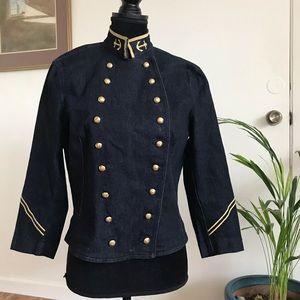 Lauren Jeans Co. Nautical Denim Jacket Size L